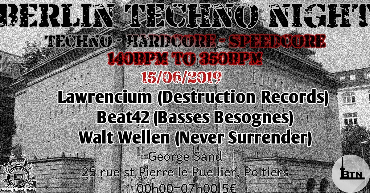 Berlin Techno Night flyer 160/06/2019